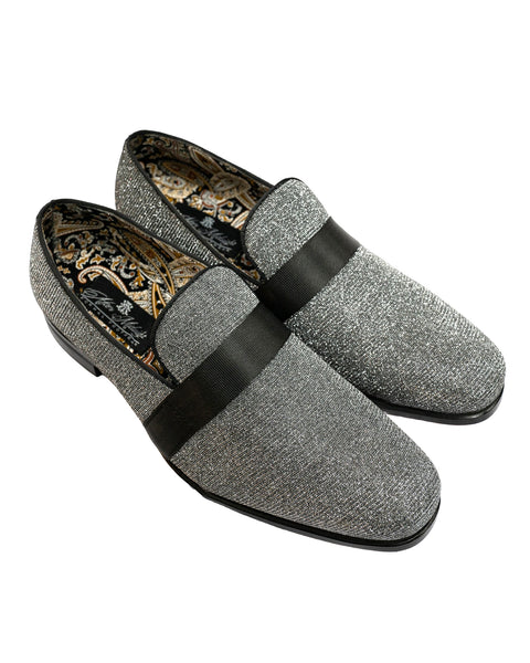 After Midnight Ribbon Band Formal Loafer in Gunmetal - Rainwater's Men's Clothing and Tuxedo Rental