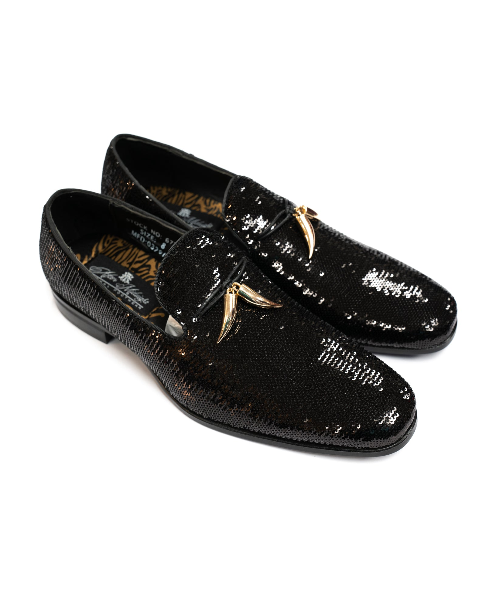 After Midnight Tassel Sequin Formal Loafer in Black - Rainwater's Men's Clothing and Tuxedo Rental