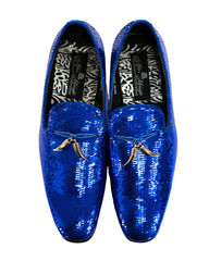 After Midnight Tassel Sequin Formal Loafer in Royal Blue - Rainwater's Men's Clothing and Tuxedo Rental