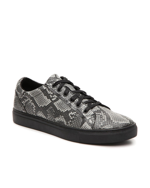Bacco Bucci Laurens Sneaker In Black Snake Design - Rainwater's