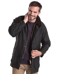 Barbour Classic Beaufort Wax Cotton Jacket In Olive - Rainwater's Men's Clothing and Tuxedo Rental
