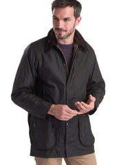 Barbour Classic Beaufort Wax Cotton Jacket In Olive - Rainwater's