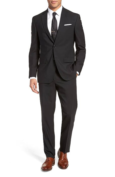 Rainwater's Superfine Blend Black Classic Fit Suit - Rainwater's Men's Clothing and Tuxedo Rental