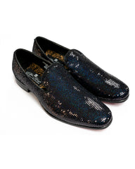 After Midnight Sequin Formal Loafer in Black Pearl - Rainwater's Men's Clothing and Tuxedo Rental