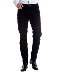 Black Stretch Slim Fit 5-Pocket Jean - Rainwater's Men's Clothing and Tuxedo Rental