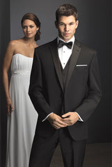 Black Slim Tuxedo Rental - Rainwater's Men's Clothing and Tuxedo Rental