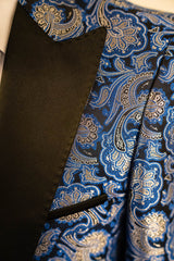 Blue Paisley Dinner Jacket Tuxedo Rental - Rainwater's Men's Clothing and Tuxedo Rental