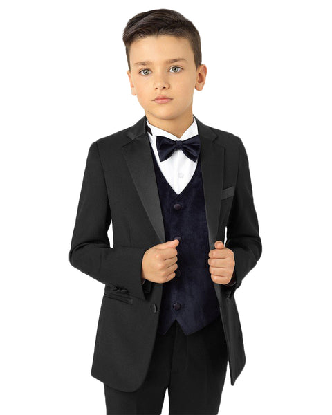 Boys Black Tuxedo Rental - Rainwater's