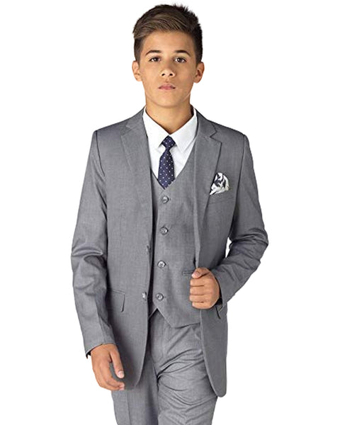 Boys Light Grey Suit Rental - Rainwater's Men's Clothing and Tuxedo Rental