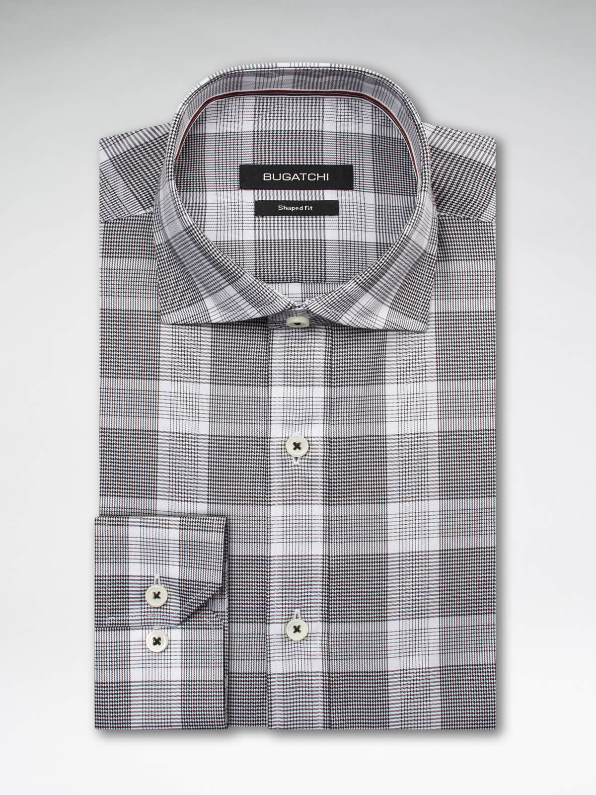 Bugatchi Black & White Plaid Classic Fit - Rainwater's Men's Clothing and Tuxedo Rental