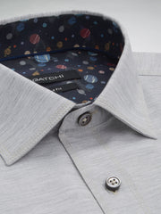 Bugatchi Sand Grey Brushed Twill Solid Classic Fit - Rainwater's Men's Clothing and Tuxedo Rental