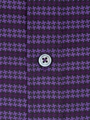 Bugatchi Plum Tonal Houndstooth Classic Fit - Rainwater's Men's Clothing and Tuxedo Rental