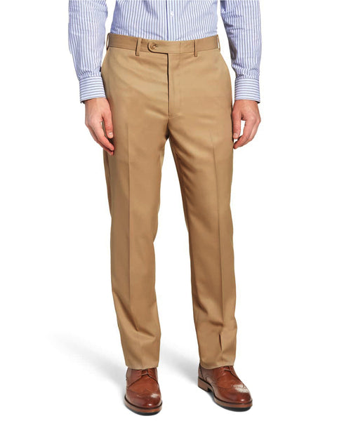 Camel Superlux Flat Front Slim Fit Dress Slack - Rainwater's Men's Clothing and Tuxedo Rental