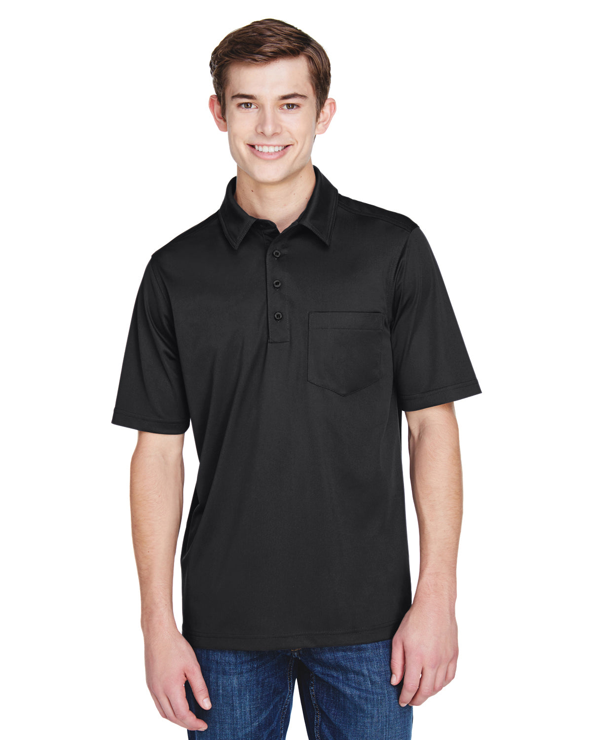 Rainwater's Straight Collar Pocket Knit Polo in Charcoal - Rainwater's Men's Clothing and Tuxedo Rental