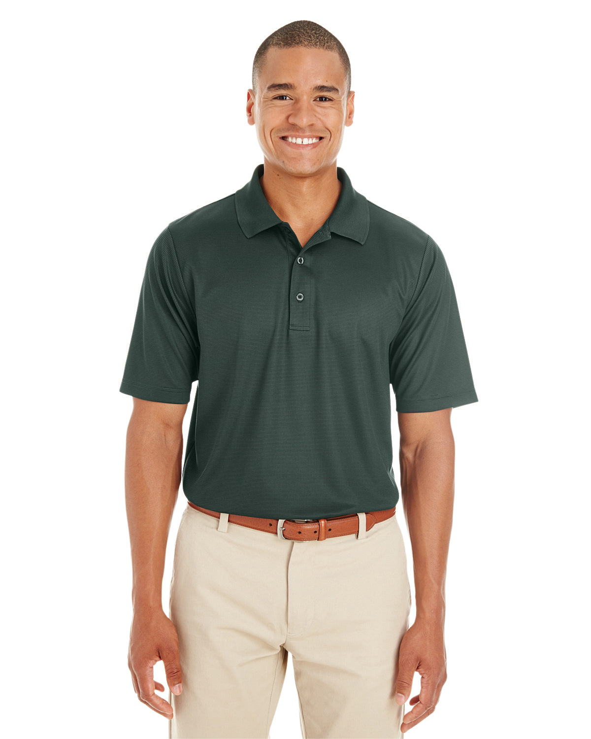 Rainwater's Mini Stripe Polo in Forrest-Grey - Rainwater's Men's Clothing and Tuxedo Rental