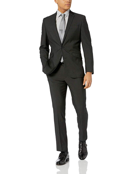 Rainwater's Superfine Blend Charcoal Grey Slim Fit Suit - Rainwater's Men's Clothing and Tuxedo Rental