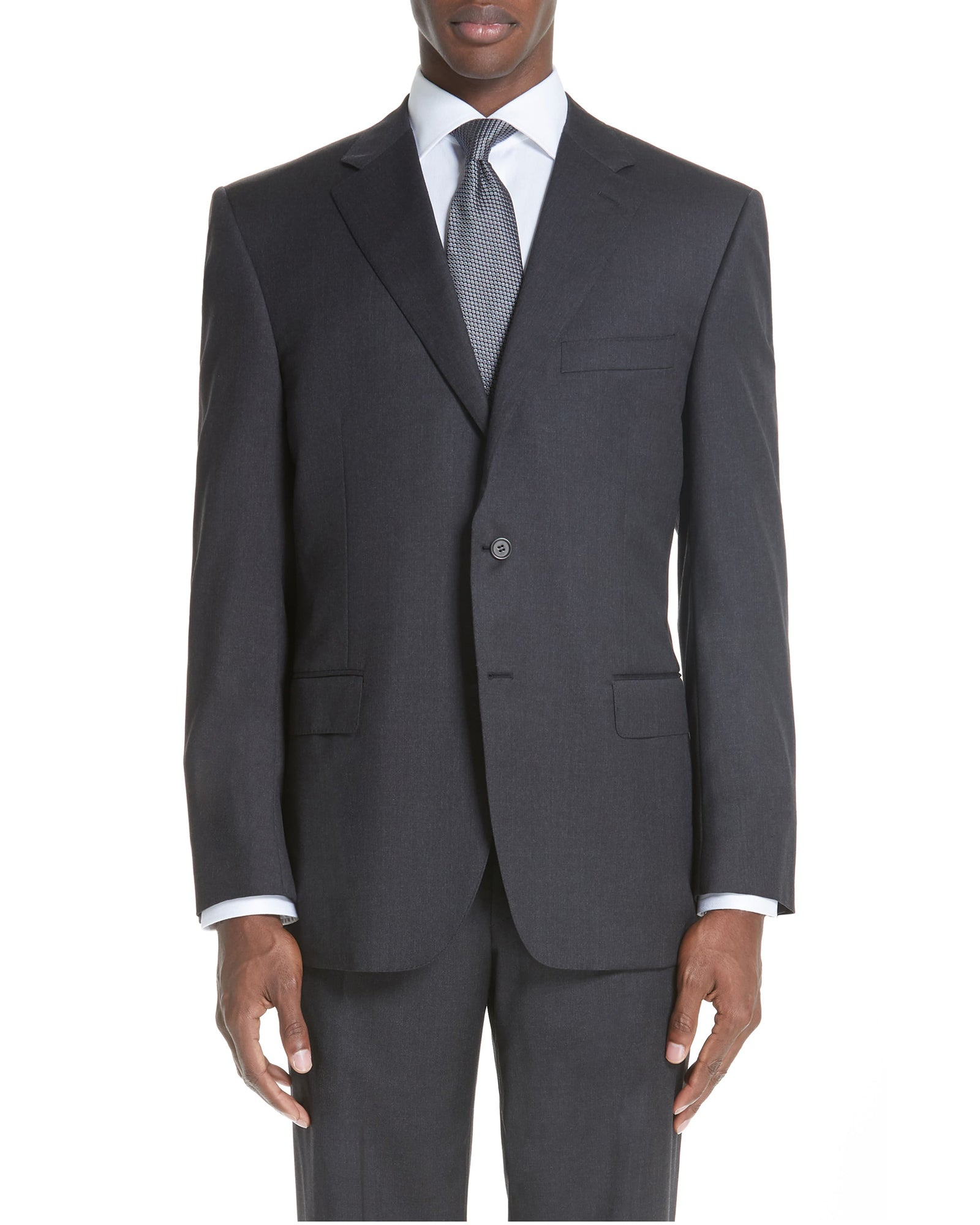 Rainwater's Charcoal Classic Fit Super 140's Wool Suit - Rainwater's Men's Clothing and Tuxedo Rental