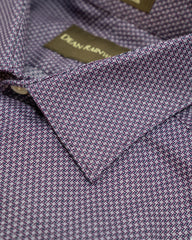 Purple Small Neat Print Cotton Spread Collar by Dean Rainwater - Rainwater's Men's Clothing and Tuxedo Rental