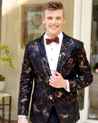 Ryan Obre Floral Print Dinner Jacket Tuxedo Rental - Rainwater's Men's Clothing and Tuxedo Rental