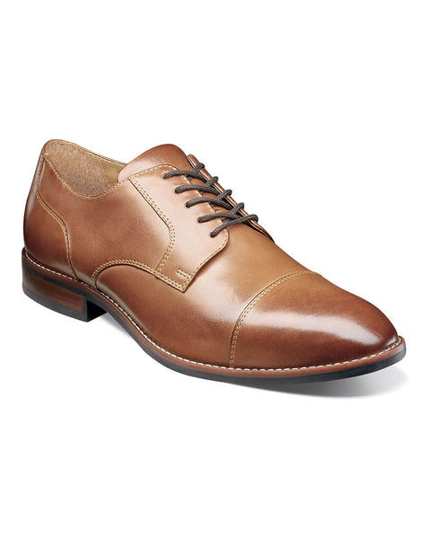 FIFTH AVE FLEX Cap Toe Oxford in Cognac by Nunn Bush - Rainwater's