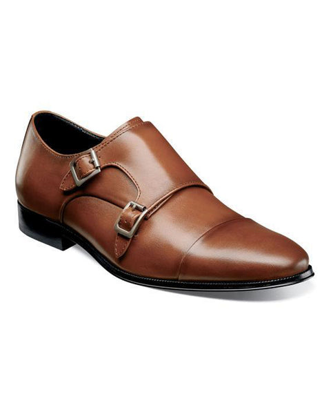Florsheim Jetson Cap Toe Monk Strap Dress Shoes in Cognac - Rainwater's