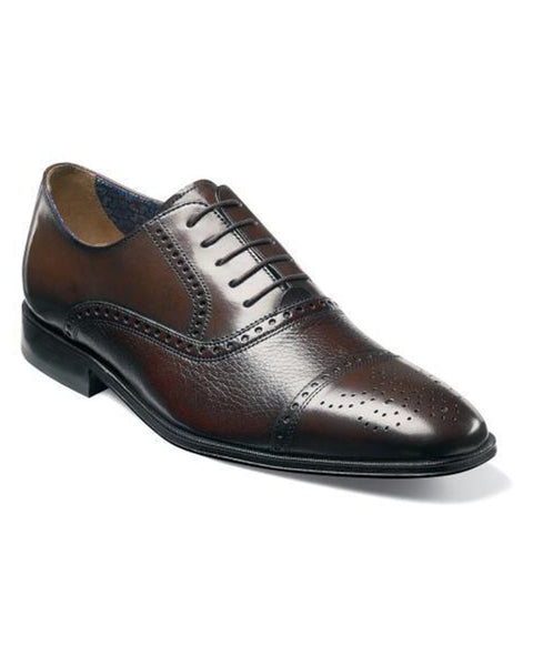 Florsheim Otavio Perf Cap Toe Oxford in Brown - Rainwater's