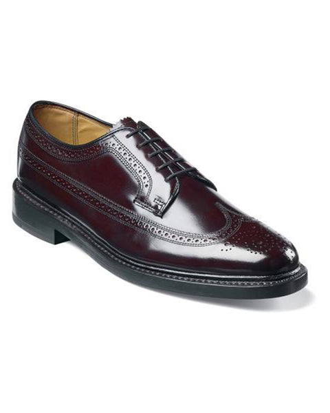 Florsheim Kenmoor Wingtip Oxford in Burgundy - Rainwater's
