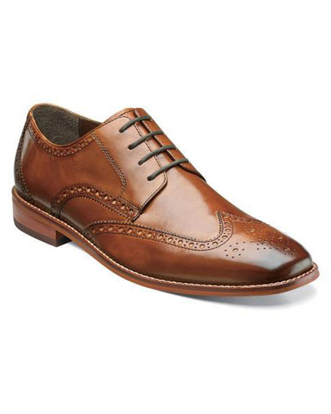 Florsheim Castellano Wingtip Oxford in Saddle Tan - Rainwater's