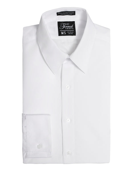 Formal Shirts Microfiber Tuxedo Dress Shirt in White - Rainwater's Men's Clothing and Tuxedo Rental