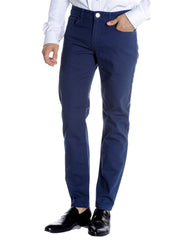French Blue Hopsack Slim Fit Stretch 5-Pocket Jean - Rainwater's Men's Clothing and Tuxedo Rental