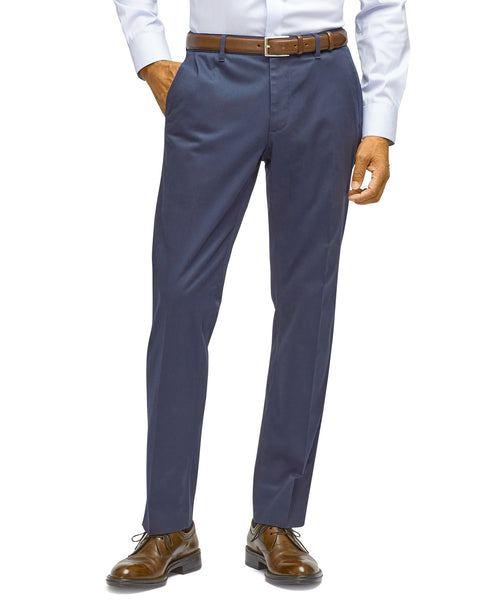 French Blue Superlux Flat Front Slim Fit Dress Slack - Rainwater's Men's Clothing and Tuxedo Rental