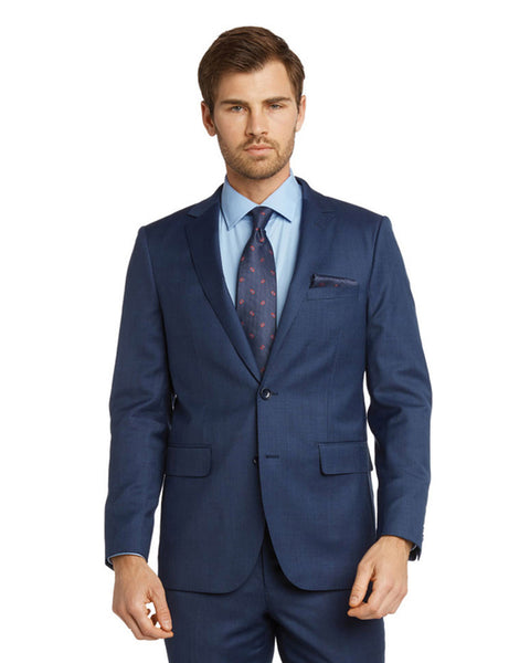 Modern Fit Sharkskin Suit in French Blue - Rainwater's Men's Clothing and Tuxedo Rental