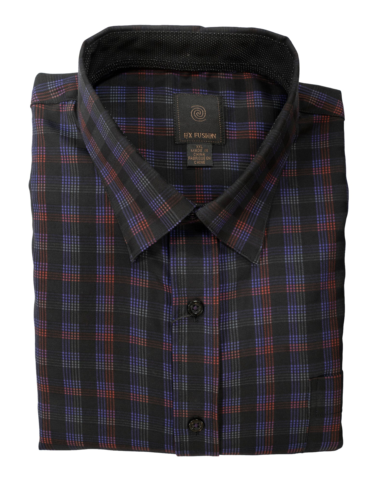 Black Multi-Colored Grid Sport Shirt - Rainwater's Men's Clothing and Tuxedo Rental