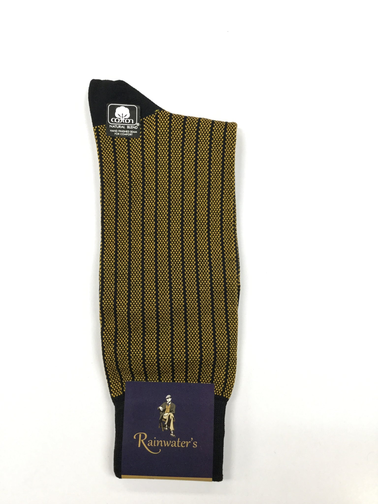 Rainwater's Mercerized Cotton Striped Dress Sock - Rainwater's Men's Clothing and Tuxedo Rental