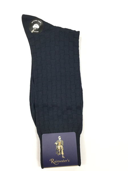 Rainwater's Mercerized Cotton Basketweave Dress Sock - Rainwater's Men's Clothing and Tuxedo Rental
