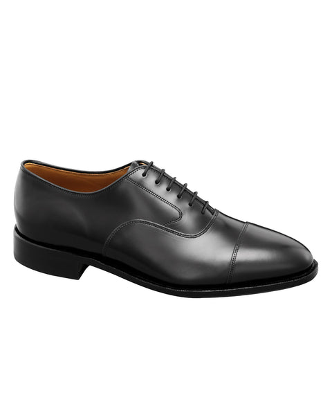 Johnston & Murphy Melton Cap Toe in Black - Rainwater's
