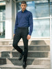 Stone Rose Navy Texture Knit Long Sleeve Shirt - Rainwater's Men's Clothing and Tuxedo Rental