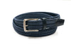 Navy Waxed Cotton Braided Belt - Rainwater's Men's Clothing and Tuxedo Rental