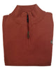 1/4 Zip Mock Sweater Vest in Orange Heather Cotton Blend - Rainwater's Men's Clothing and Tuxedo Rental