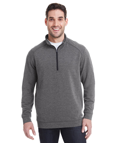 1/4 Zip Pullover in Grey Heather Tech Stretch - Rainwater's Men's Clothing and Tuxedo Rental