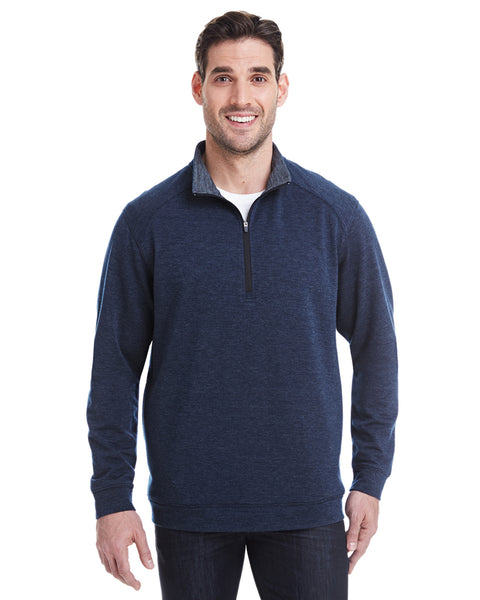 1/4 Zip Pullover in Navy Heather Tech Stretch