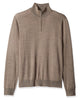 1/4 Zip Mock Sweater in Light Brown 100% Merino Wool - Rainwater's Men's Clothing and Tuxedo Rental