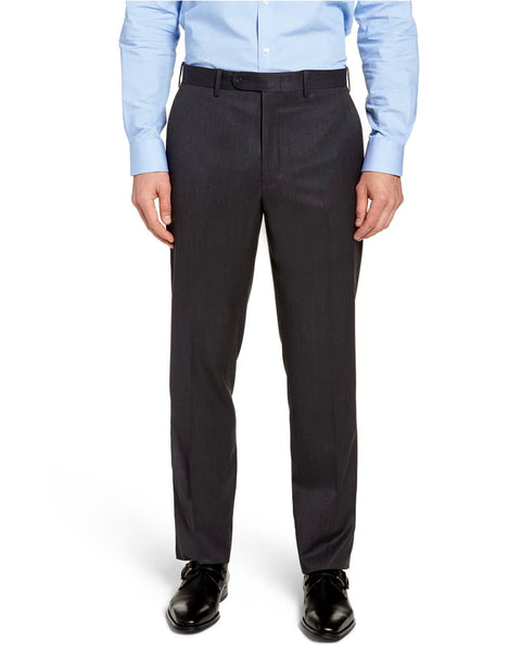 Rainwater's Fine Year Round Weight Man Made Fabric in Charcoal Classic Fit Slacks - Rainwater's Men's Clothing and Tuxedo Rental