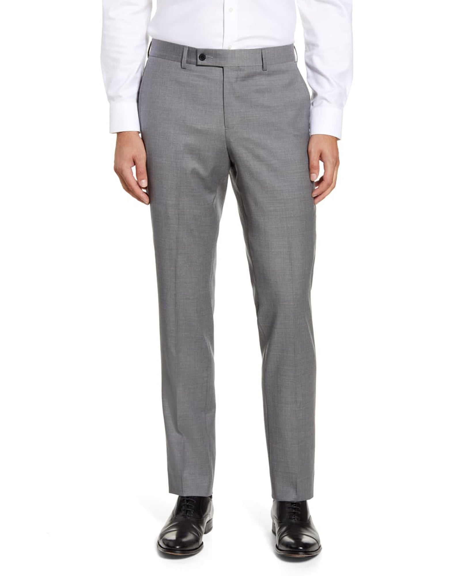 Rainwater's Fine Tropical Weight Man Made Fabric in Light Grey Slim Fit Slacks - Rainwater's Men's Clothing and Tuxedo Rental