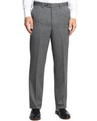 Self Sizer Wool Gaberdine Flat Front Slacks - Rainwater's Men's Clothing and Tuxedo Rental