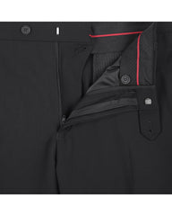 Rainwater's Fine Tropical Weight Man Made Fabric in Black Classic Fit Slacks - Rainwater's Men's Clothing and Tuxedo Rental