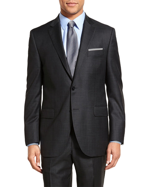 Rainwater's Luxury Collection Charcoal Sharkskin Classic Fit Suit - Rainwater's