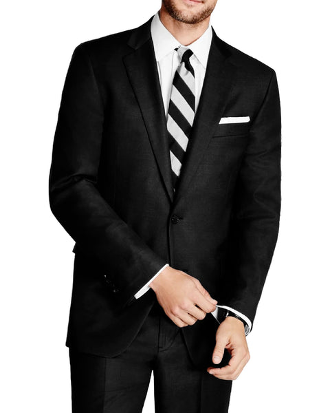 Rainwater's Black Modern Fit Super 140's Wool Suit - Rainwater's Men's Clothing and Tuxedo Rental