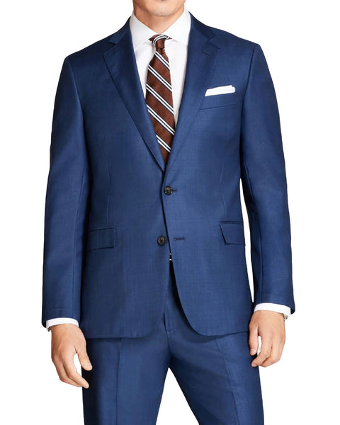Rainwater's Wool French Blue Sharkskin Modern Fit Suit - Rainwater's Men's Clothing and Tuxedo Rental