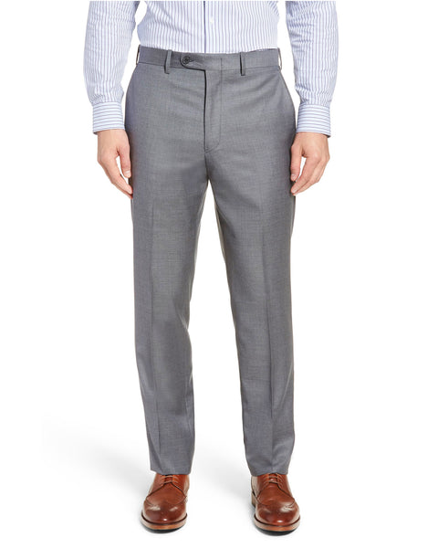 Rainwater's Fine Tropical Weight Man Made Fabric in Light Grey Classic Fit Slacks - Rainwater's Men's Clothing and Tuxedo Rental